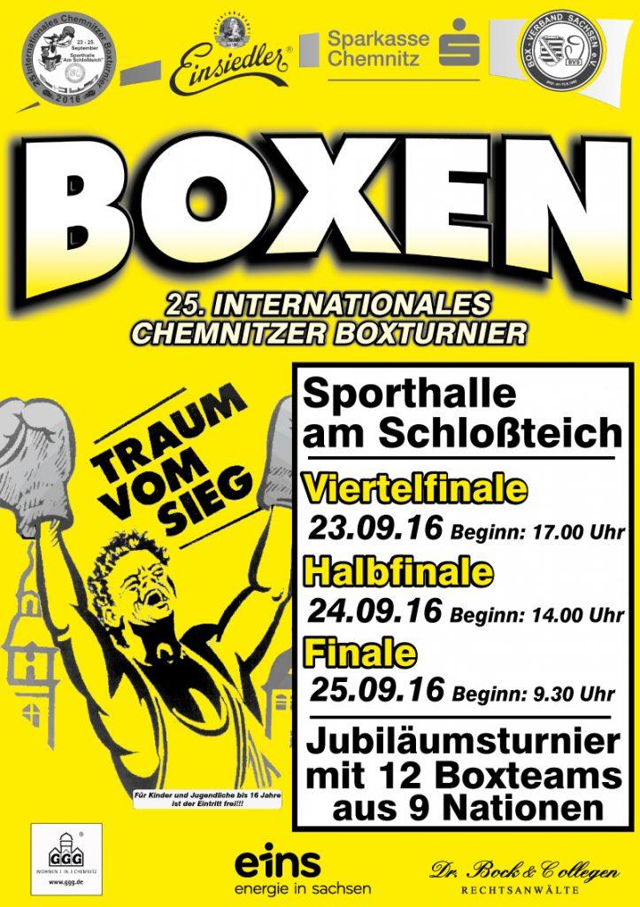 Plakat Boxturnier 2016